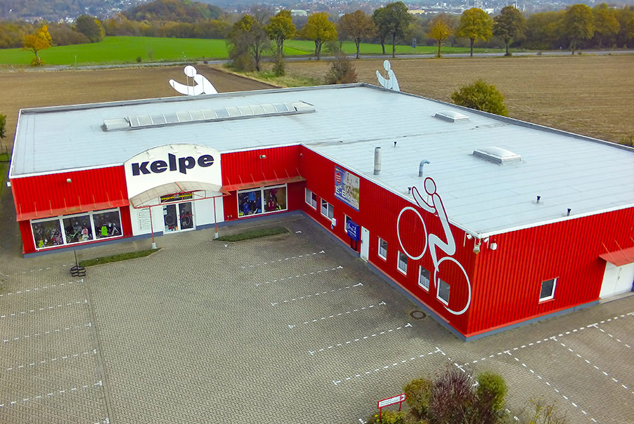 Fahrrad Kelpe Alfeld - Bauvorhaben Architektur - Luftbild Alfeld